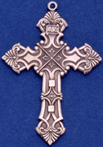 C355 large sterling cross necklace