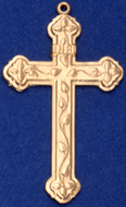 C391 gold large ornate cross