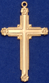 C333 gold cross with flowers