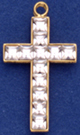 C427 channel cross with stones