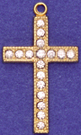 C87 cross with stones
