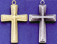 C254 sterling hollow cross