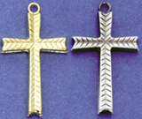 C267 fancy hollow cross