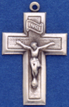 C314 sterling hollow crucifix