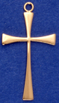 C22 large gold plain cross