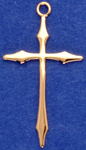 C24 large gold plain cross