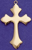 C247 gold plain cross