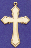 C330 gold large plain cross