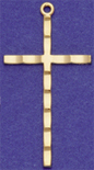 C332 large gold plain cross
