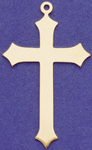 C377 large gold plain cross