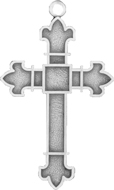 C457 sterling plain cross