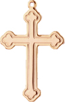C523 gold plain cross