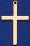 C91 large gold plain cross