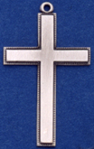 C94 large silver plain cross
