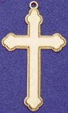 C96 gold plain cross
