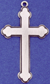 C96 silver large plain cross