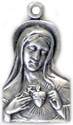 C1009 immaculate heart of mary medal