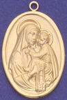 C302H hollow gold mother and child medal
