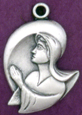 C532 sterling praying mary medal