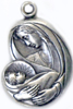 C536 sterling mother and child medal