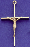 C204 gold wire crucifix